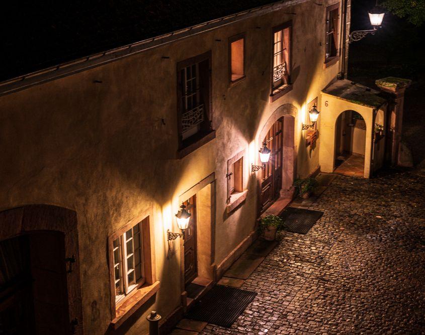 Abends im Schlosshotel Edesheim