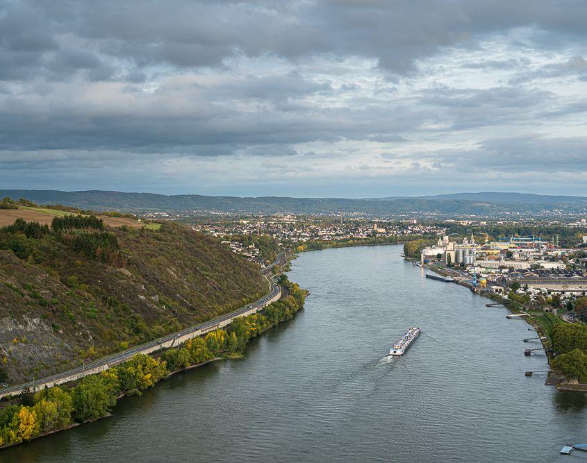 Blick vom Krahnenberg, Andernach