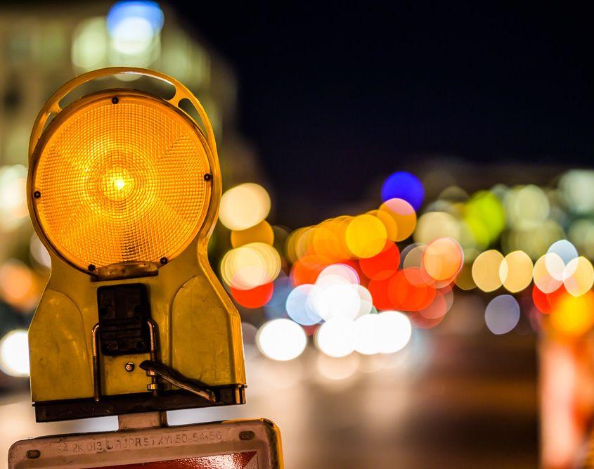City Lights, München, an der Friedenheimer Brücke