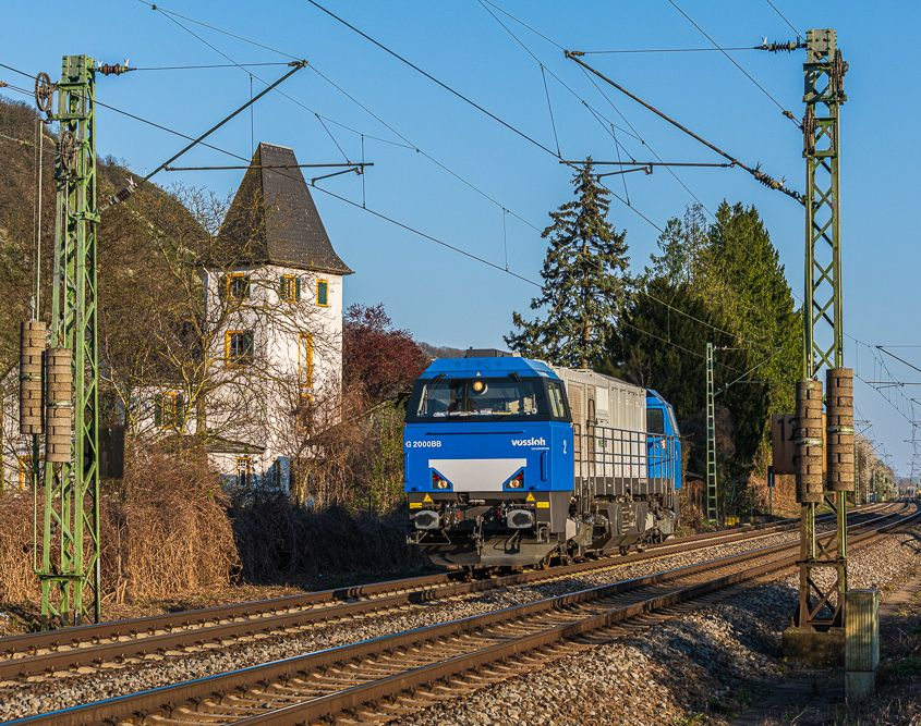 Trainspotting, Vossloh G2000BB, Leutesdorf