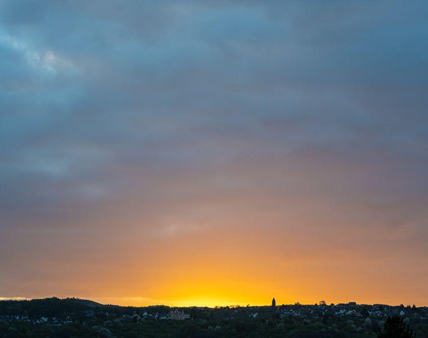 Kurz vor Sonnenaufgang, Sinzig