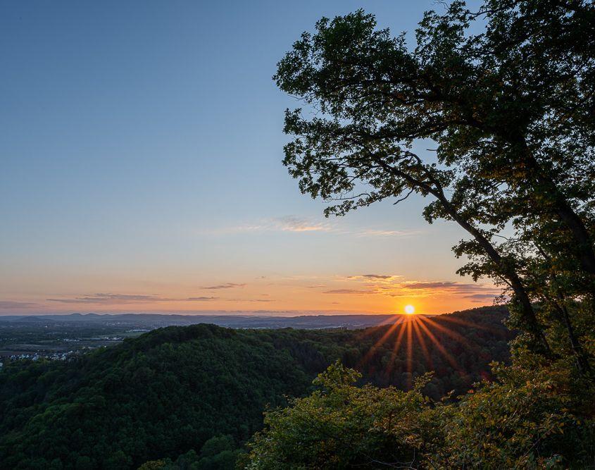 Sonnenuntergang, Sayn
